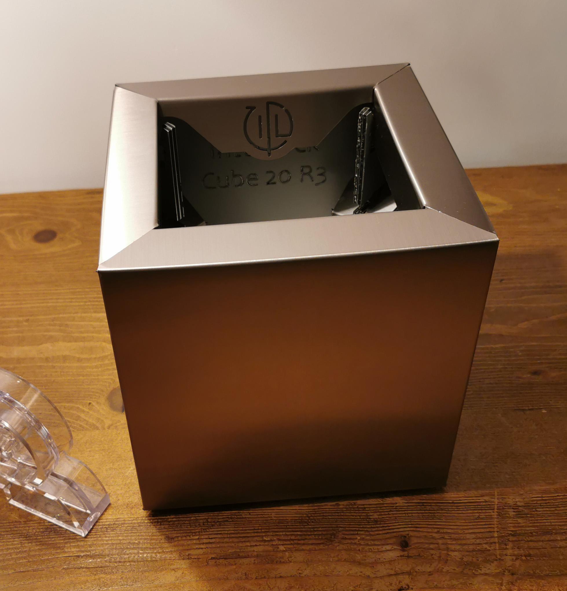 Cube 20 Acier Brossé