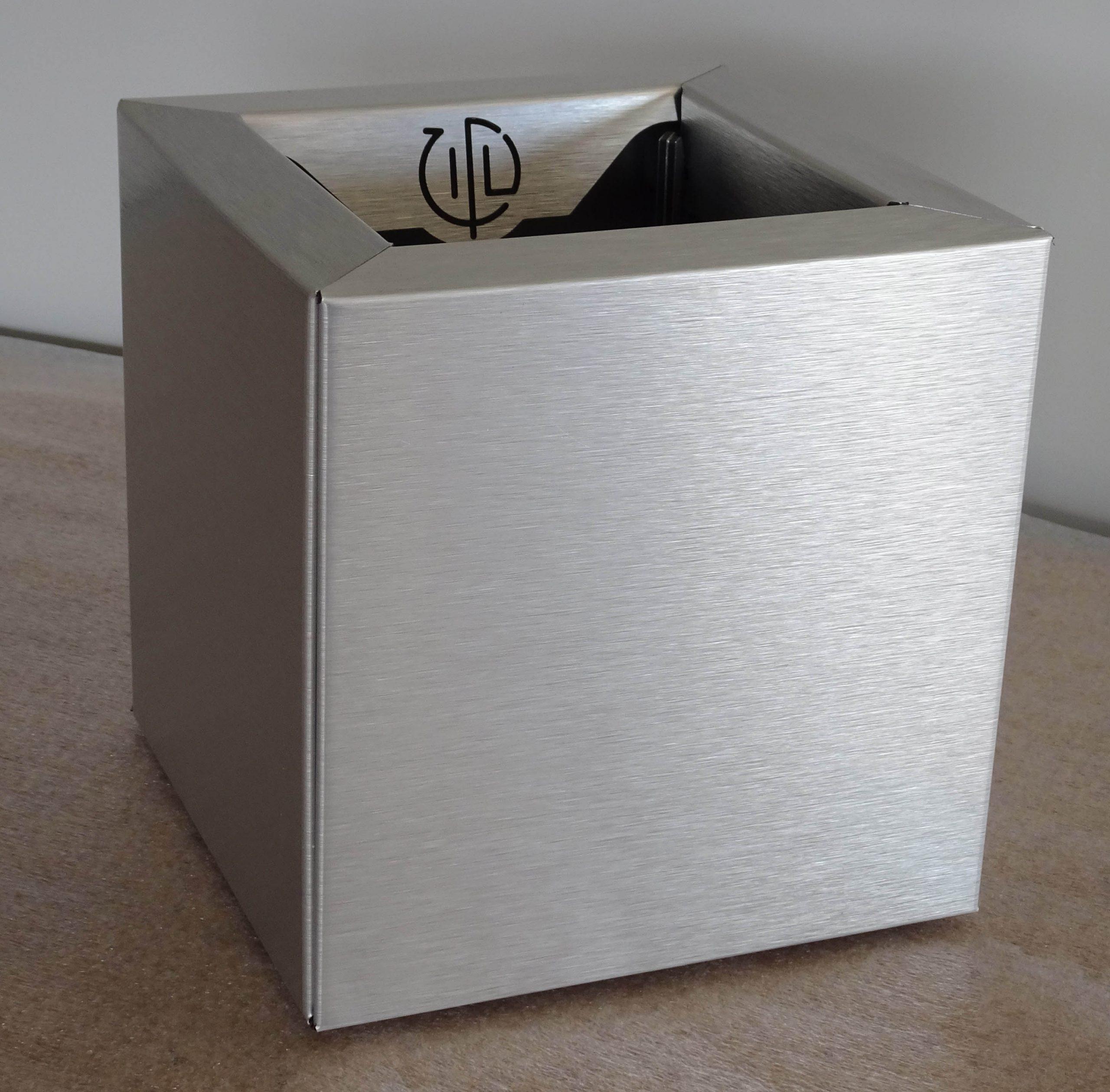 Cube 20 Aluminium Brossé
