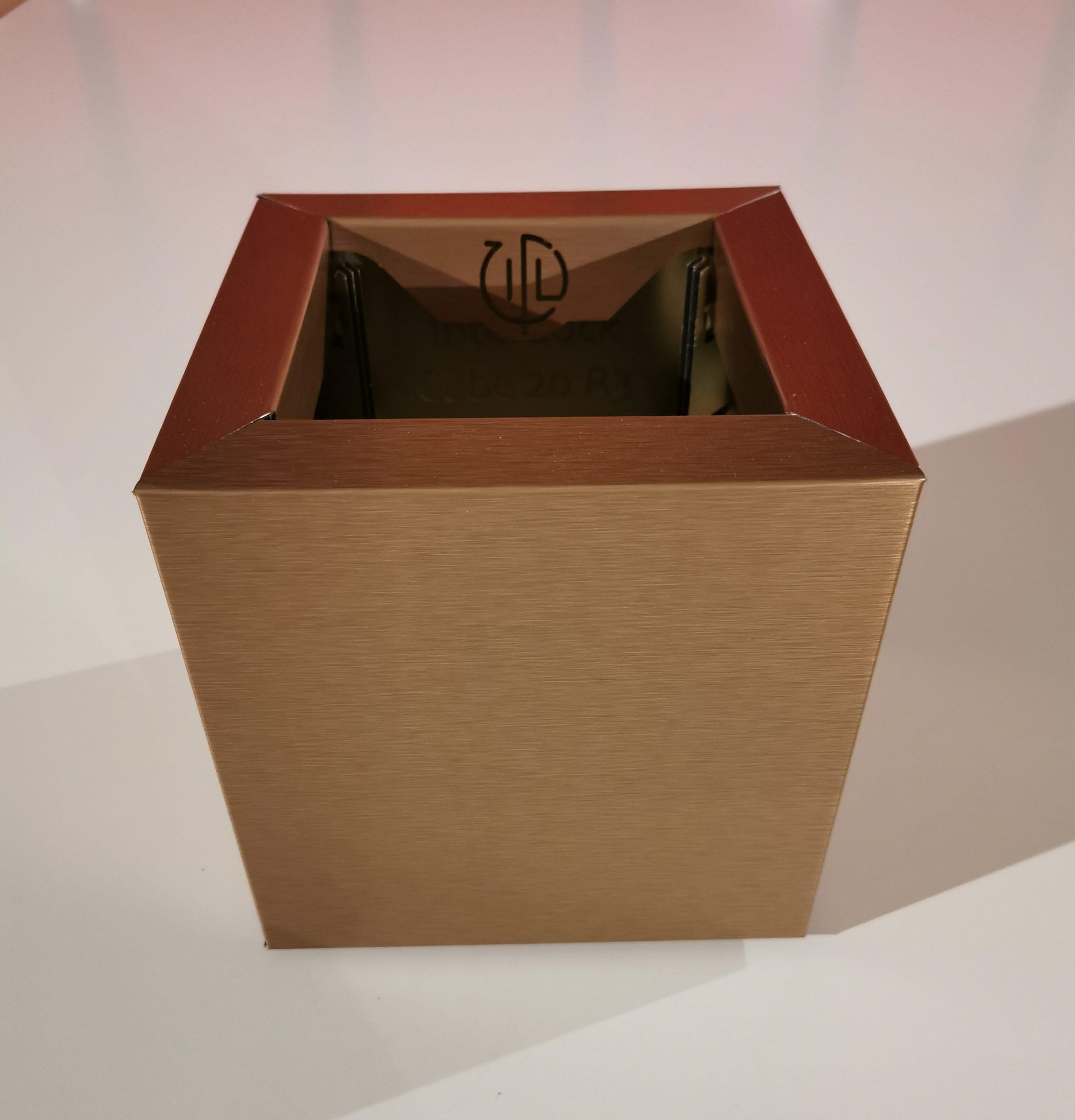 Cube 20 Bronze Brossé