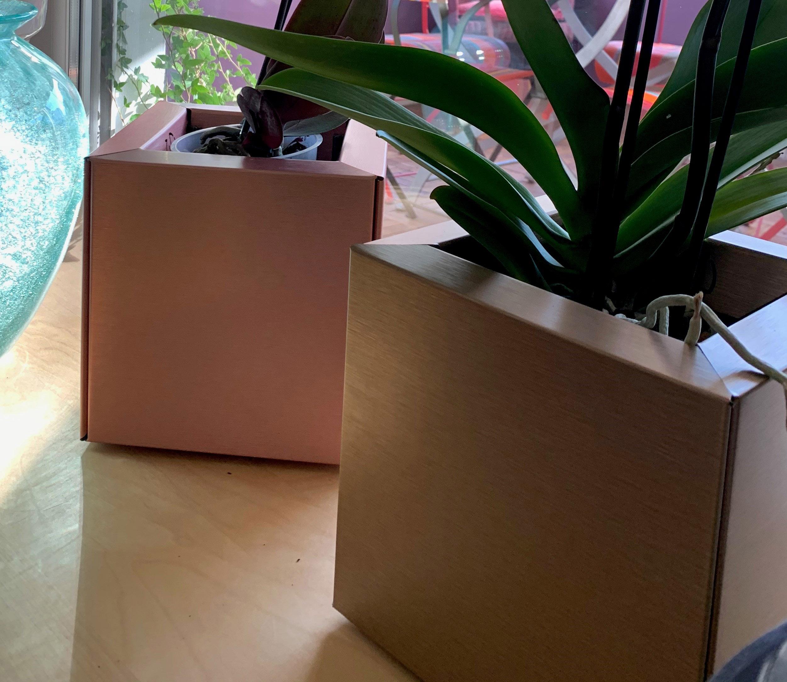 Cube 20 Bronze et Cuivre