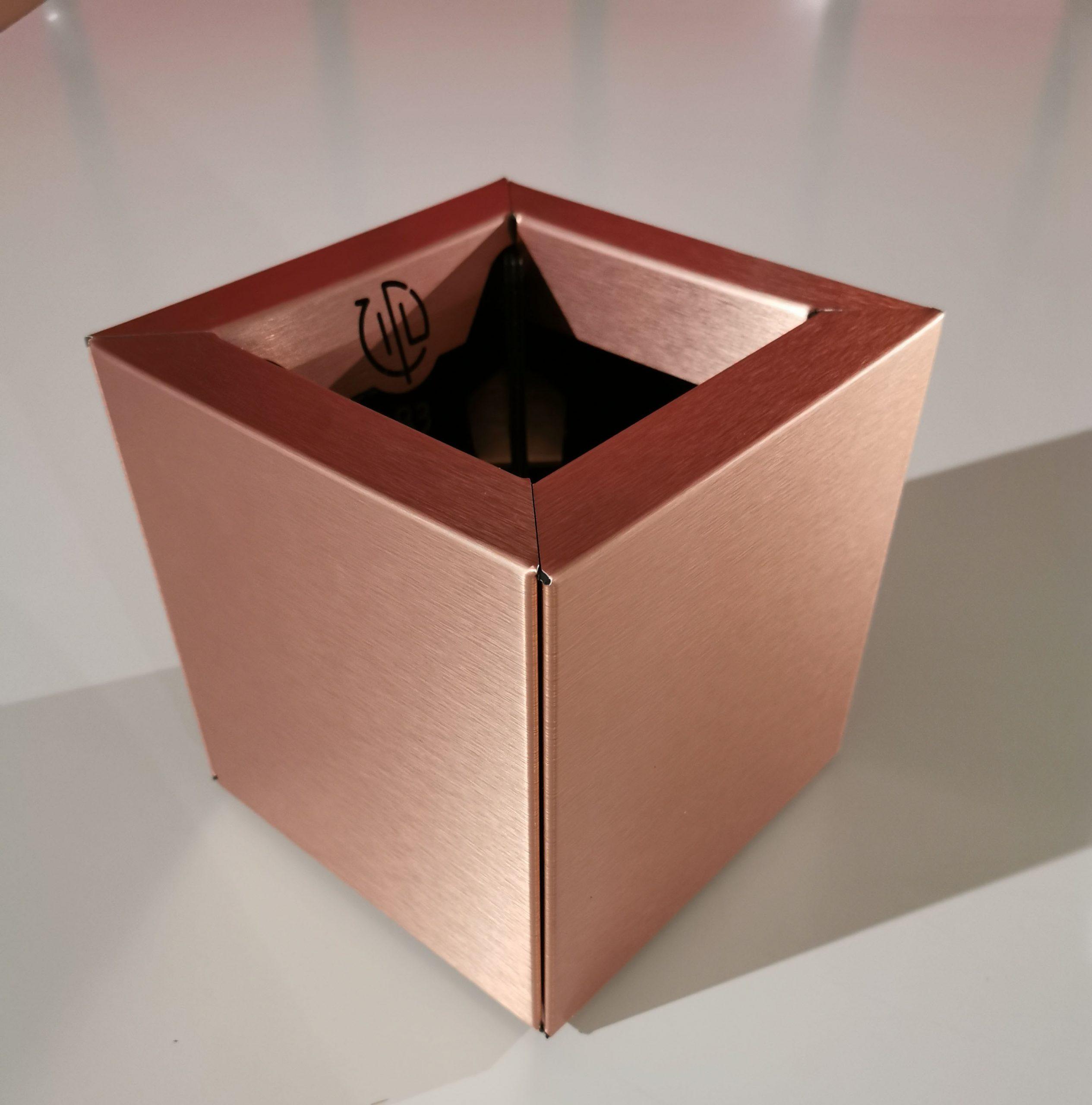 Cube 20 Cuivre Brossé